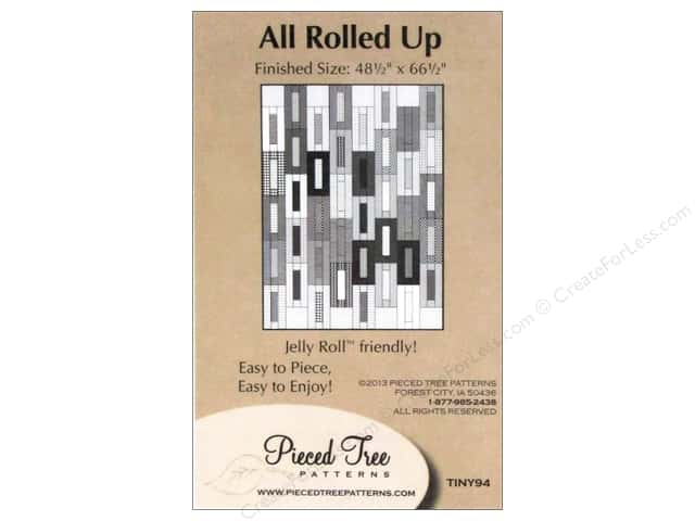 Pieced Tree Tiny All Rolled Up Pattern Card