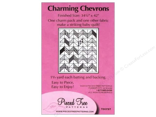 Pieced Tree Tiny Charming Chevrons Pattern Card
