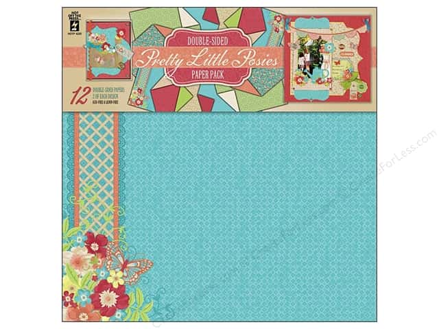 "Hot Off The Press Paper Pack 12""x 12"" Pretty Little Posies"