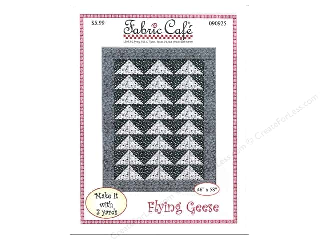 Fabric Cafe Flying Geese 3 Yard Quilt Pattern