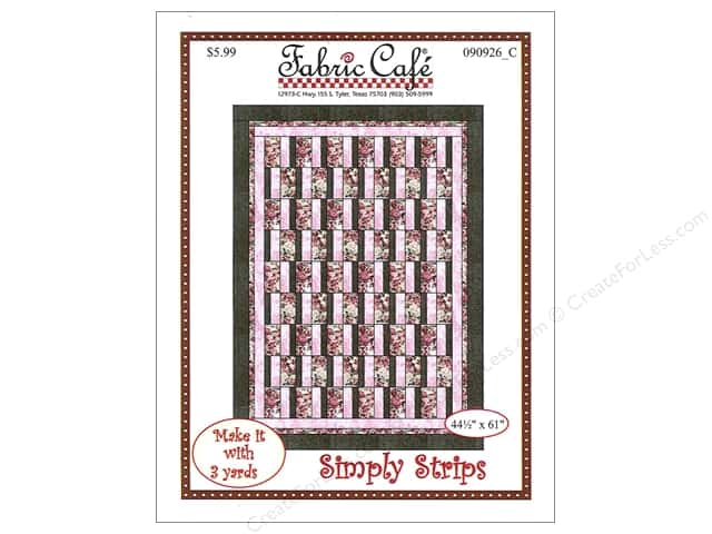Fabric Cafe Simply Strips 3 Yard Quilt Pattern