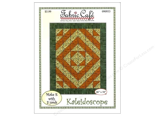 Fabric Cafe Kaleidoscope 3 Yard Quilt Pattern