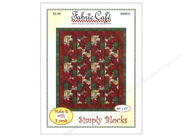 Fabric Cafe Simply Blocks 3 Yard Quilt Pattern