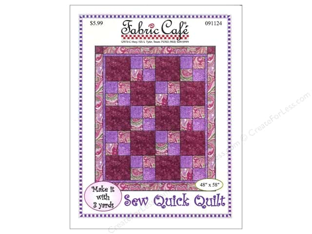 Fabric Cafe Sew Quick 3 Yard Quilt Pattern