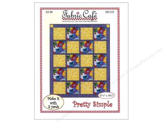 Fabric Cafe Pretty Simple 3 Yard Quilt Pattern