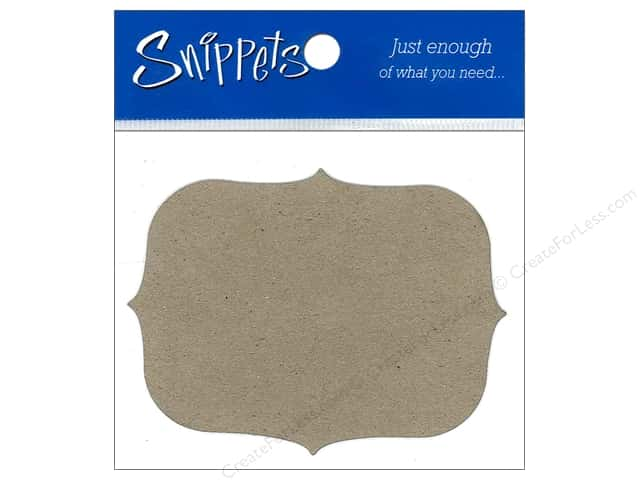 Paper Accents Chipboard Shape Marquee #4 3 pc. Kraft
