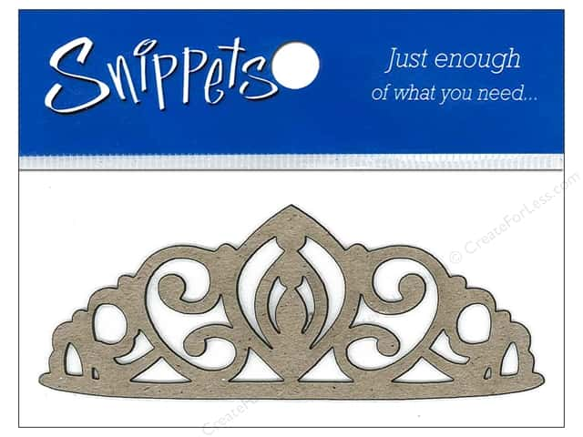 Paper Accents Chipboard Shape Tiara 3 pc. Natural