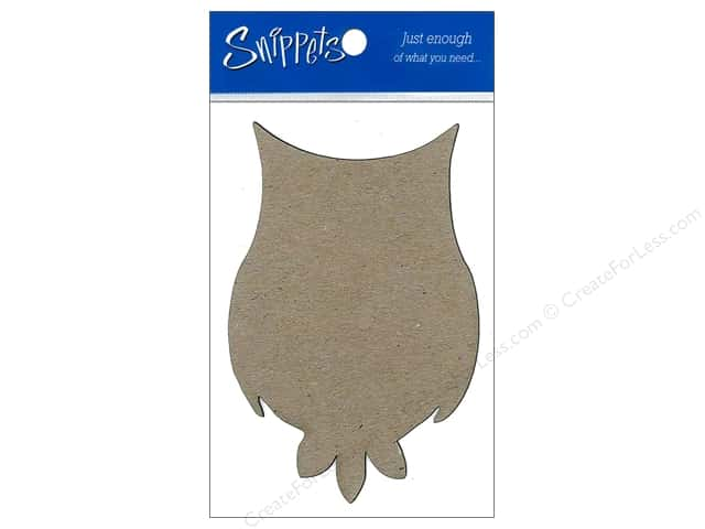 Paper Accents Chipboard Shape Owl 3 pc. Natural
