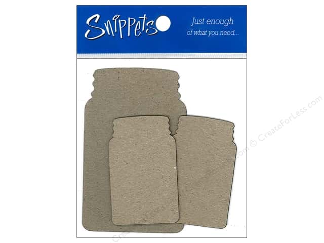 Paper Accents Chipboard Shape Canning Jars 3 pc. Kraft