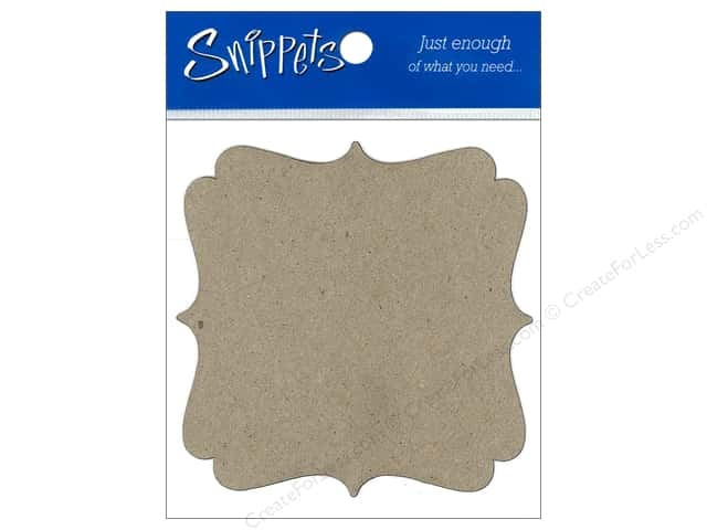 Paper Accents Chipboard Shape Marquee #7 3 pc. Natural