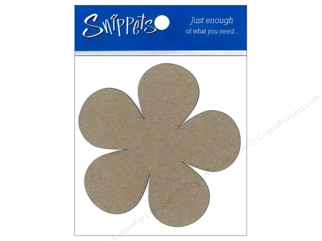 Paper Accents Chipboard Shape Flower Power 3 pc. Kraft