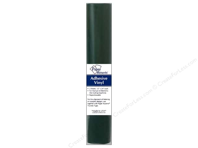 Paper Accents Adhesive Vinyl 12 x 24 in. Removable Dark Green 2 pc.
