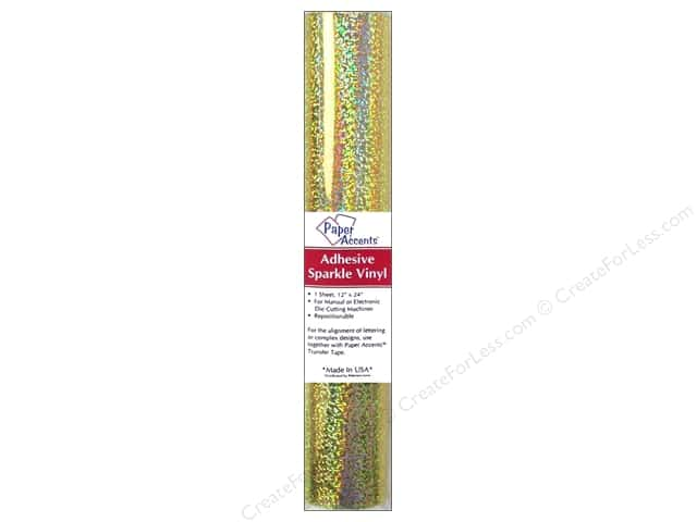 Paper Accents Adhesive Vinyl 12 x 24 in. Removable Sparkle Gold 1 pc.