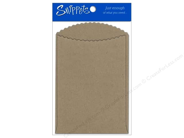 Paper Accents Pockets 3 1/2 x 5 in. Brown Bag 3 pc.