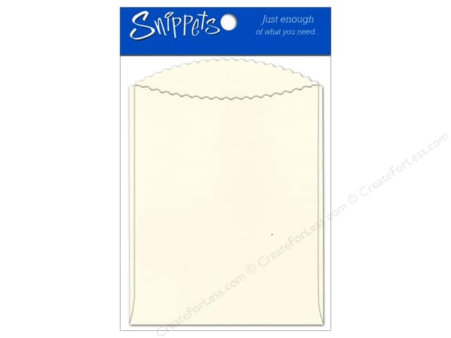 Paper Accents Pockets 4 1/4 x 5 1/2 in. Cream 3 pc.