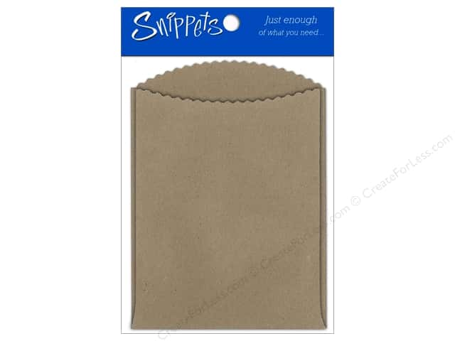 Paper Accents Pockets 4 1/4 x 5 1/2 in. Brown Bag 3 pc.