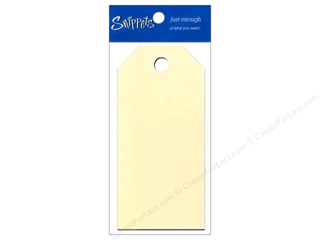 Craft Tags by Paper Accents 2 1/8 x 4 1/4 in. 8 pc. Manila