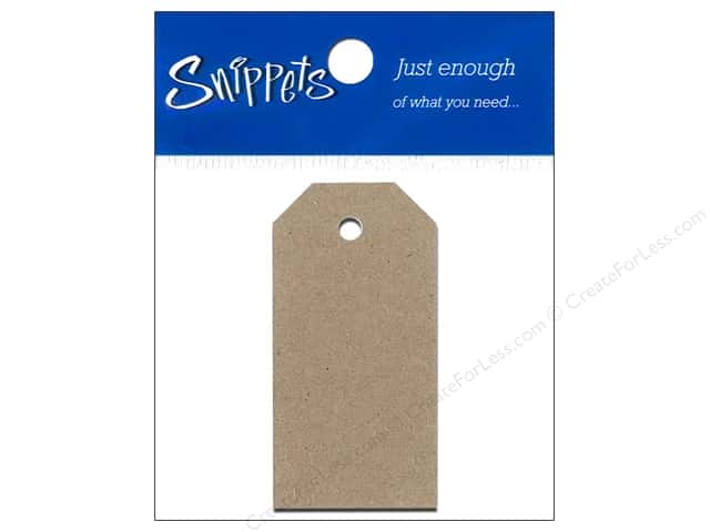Craft Tags by Paper Accents 7/8 x 1 3/4 in. 14 pc. Brown Bag