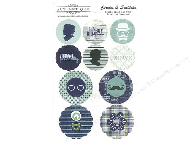 Authentique Die Cuts Suave Circles & Scallops (12 sets)