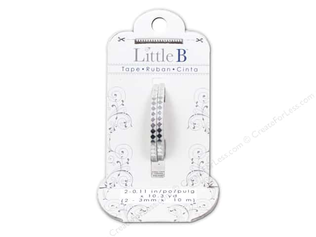 Little B Decorative Paper Tape 1/8 in. Silver Foil Harlequin 2 pc.