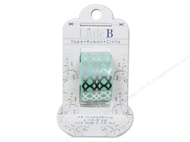 Little B Decorative Paper Tape 1 in. Silver Foil Honeycomb