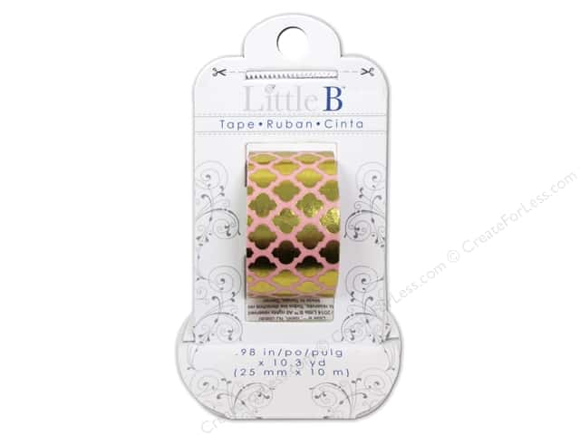 Little B Decorative Paper Tape 1 in. Gold Foil Moroccan