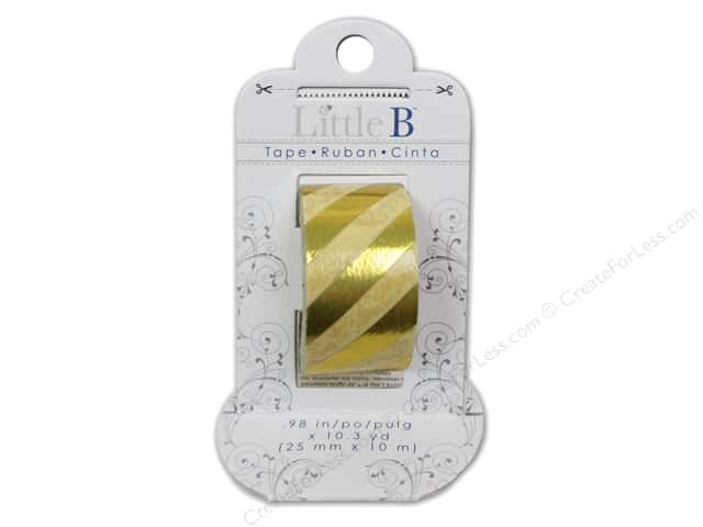 Little B Decorative Paper Tape 1 in. Gold Foil Stripe