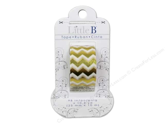 Little B Decorative Paper Tape 1 in. Gold Foil Chevron