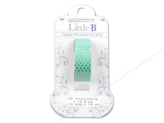 Little B Decorative Paper Tape 5/8 in. Silver Foil Dots