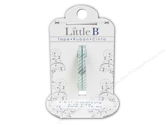Little B Decorative Paper Tape 1/8 in. Silver Foil Stripe 2 pc.