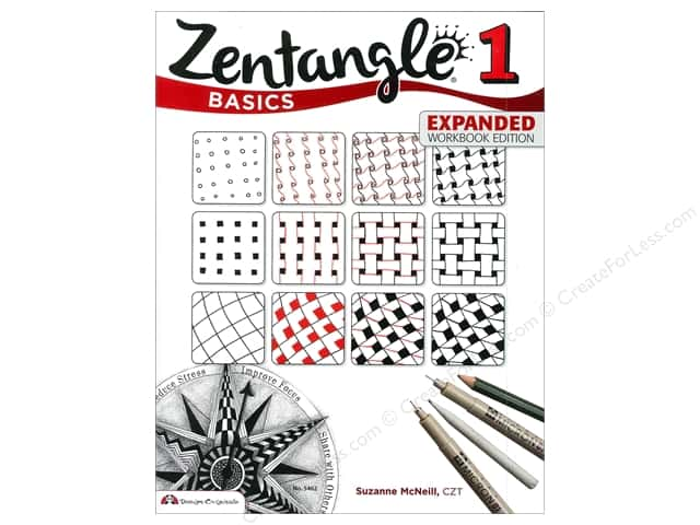 Design Originals Zentangle 1 Basics Expanded Edition Book by Suzanne McNeill