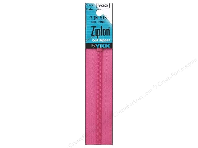YKK Ziplon Coil Zipper 7 in. Hot Pink