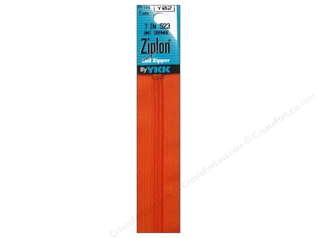 YKK Ziplon Coil Zipper 7 in. Burnt Orange