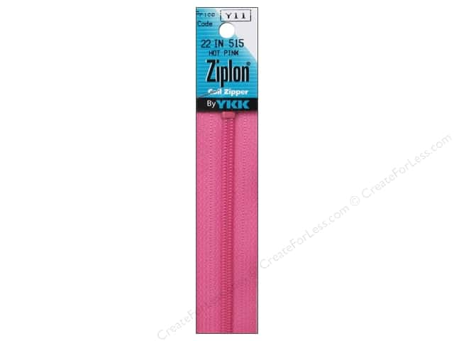 YKK Ziplon Coil Zipper 22 in. Hot Pink