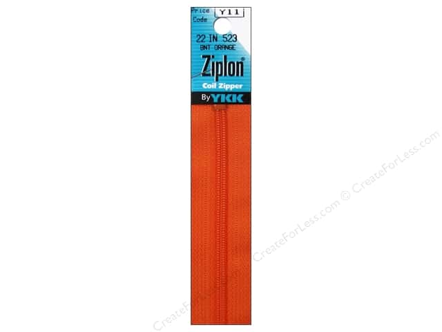 YKK Ziplon Coil Zipper 22 in. Burnt Orange