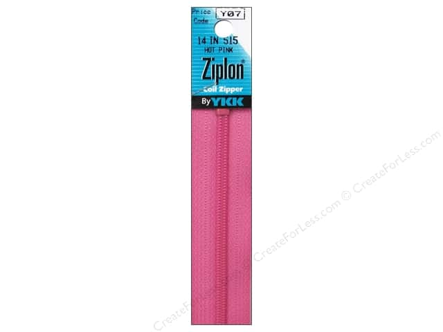 YKK Ziplon Coil Zipper 14 in. Hot Pink