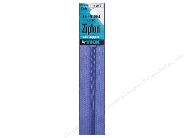 YKK Ziplon Coil Zipper 14 in. Lilac