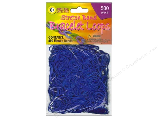 Pepperell Stretch Band Bracelet Loops Blue 500pc