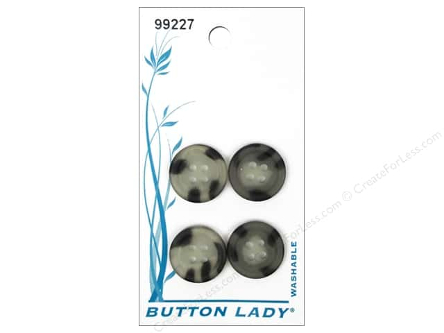 JHB Button Lady Buttons 5/8 in. Smoke #99227 4 pc.
