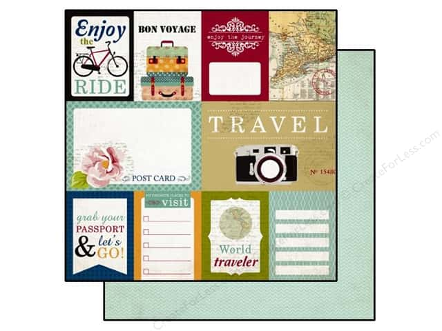 Echo Park 12 x 12 in. Paper Getaway Journaling Cards (25 sheets)
