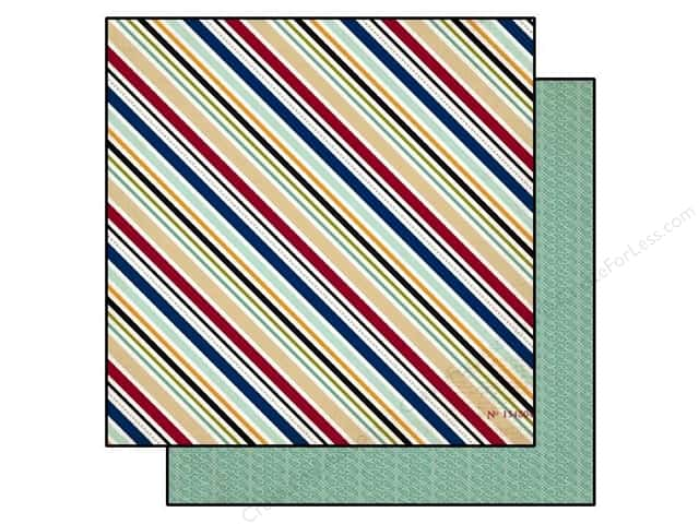 Echo Park 12 x 12 in. Paper Getaway Travel Stripe (25 sheets)