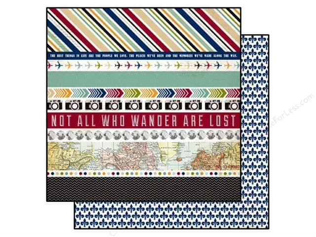 Echo Park 12 x 12 in. Paper Getaway Border Strips (25 sheets)