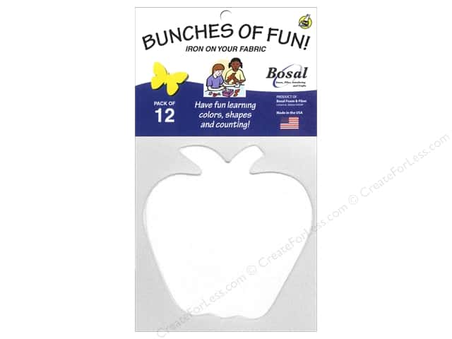 Bosal Craf-Tex Shapes 4 3/8 x 4 1/2 in. Apple 12 pc.