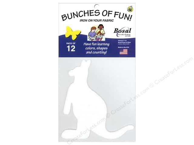 Bosal Craf-Tex Shapes 4 3/4 x 5 in. Kangaroo 12 pc.