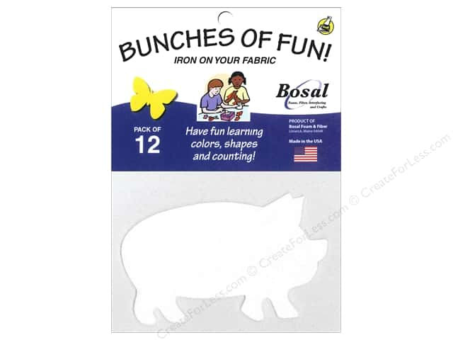 Bosal Craf-Tex Shapes 4 1/4 x 2 1/2 in. Pig 12 pc.