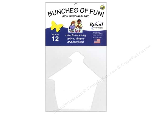 Bosal Craf-Tex Shapes 4 x 4 1/2 in. School House 12 pc.