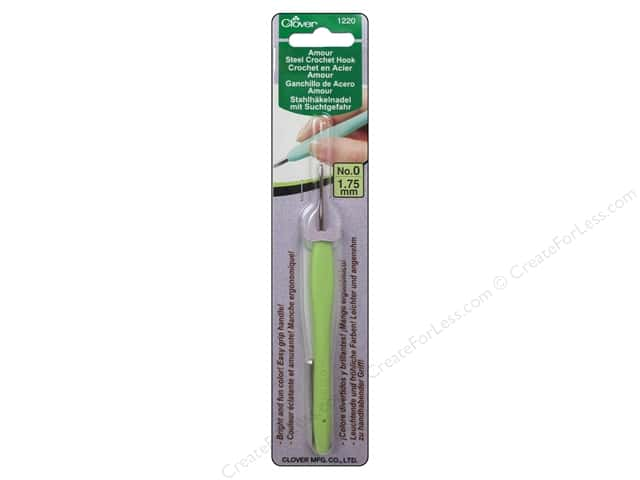 Clover Amour Steel Crochet Hook Size 0 (1.75 mm)