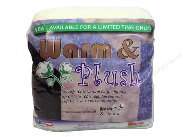 Warm & Plush Cotton Batting 90 x 108 in. Queen