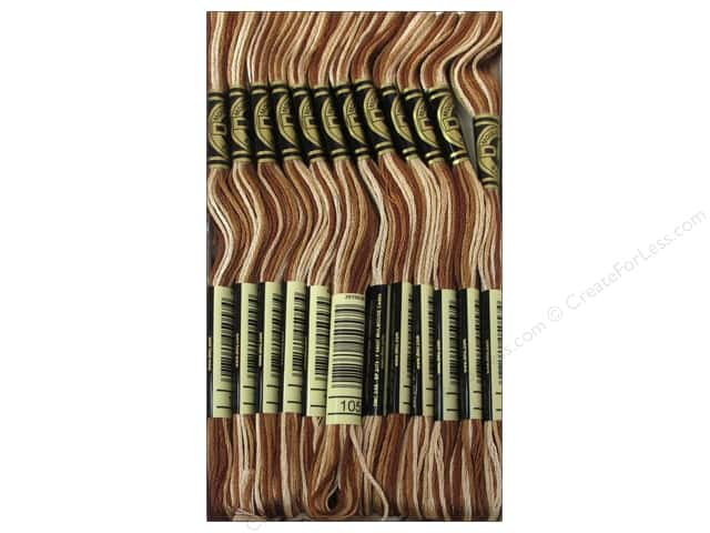 DMC Six-Strand Embroidery Floss #105 Varigated Brown (12 skeins)