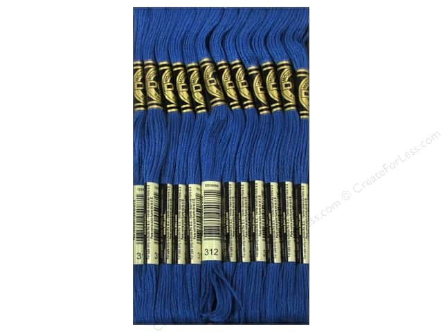 DMC Six-Strand Embroidery Floss #312 Very Dark Baby Blue (12 skeins)